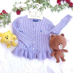 🥳HP🥳 POLO RALPH LAUREN Baby Girl Knit Cardi 2T
